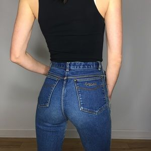Vintage High Waist Mom Jeans Straight Leg